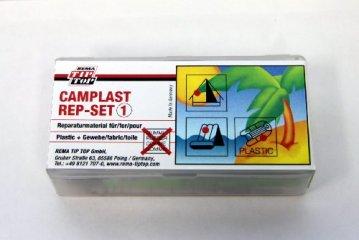 Yachticon Reparaturset mit transparenten Flicken zur Reparatur von Artikeln aus Weich-PVC mit Gewebeoberfläche, Gewebe und Kunstleder, wie Zelt, Schlauchboot aus PCV. Inhalt: 4 transparente Flicken, Kleber 6 g, Rauhpapier -
