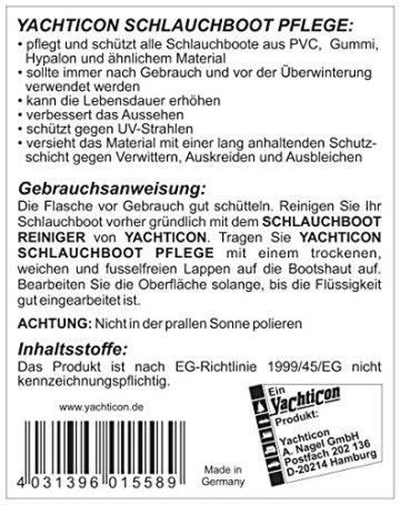 Yachticon Schlauchboot Reiniger & Pflege Set 2x500ml -