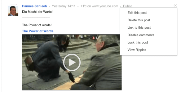 Google Ripples Beispiel