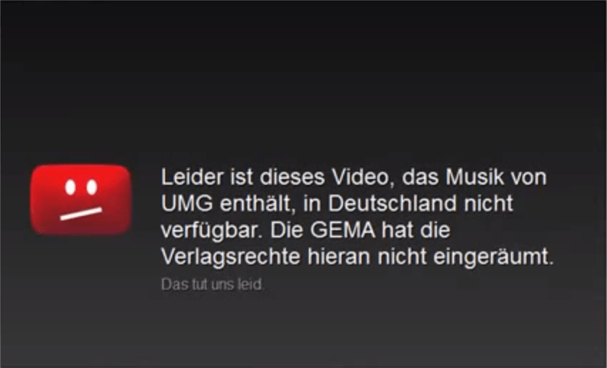 GEMA Youtube Sperre