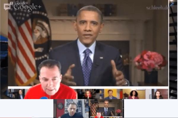 Obama im Hangout on Air des Bloggercamps