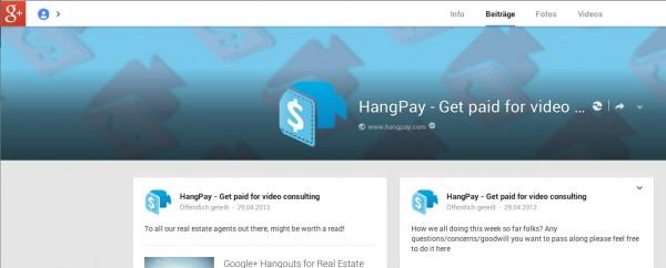 Hangpay Google plus