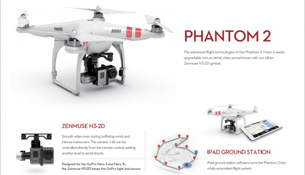Screenshot DJI Phantom Pressekit
