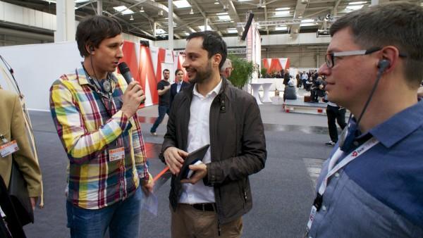 Jan Christe und Andreas Lenz auf der t3n Bloggertour 2014