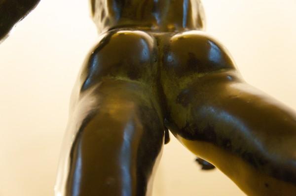 Der schwebende Merkur von hinten unten Augmented Reality im Bayrischen Nationalmuseum mit METAIO