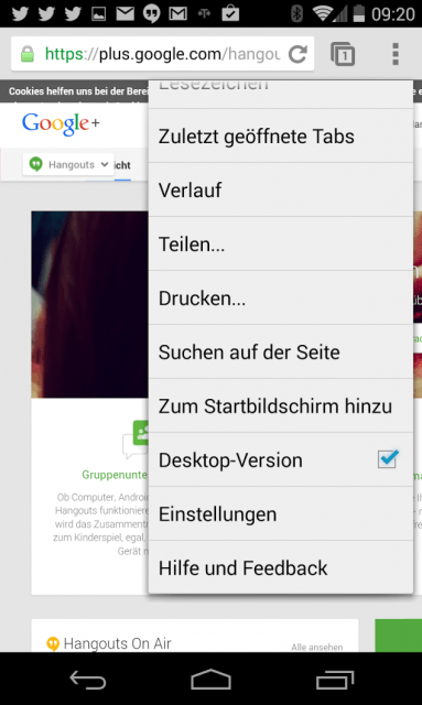 Chrome Beta wird als Desktop ausgegeben
