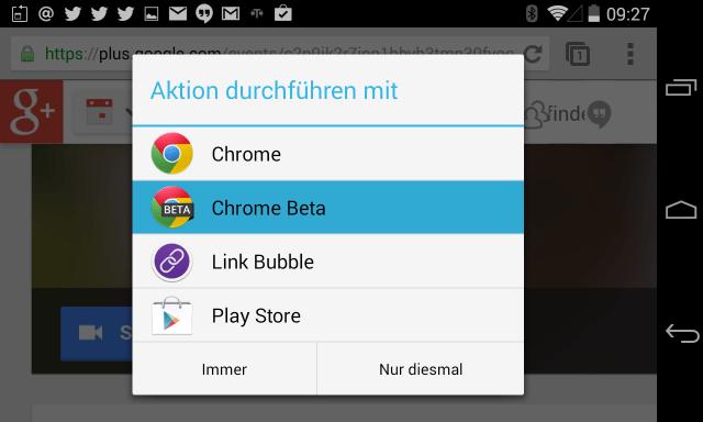 Hangout on Air lässt sich nur mit Google Chrome Beta ausführen