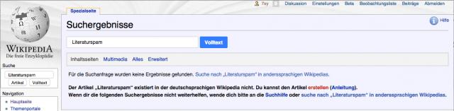 Literaturspam auf Wikipedia?