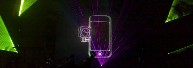 Apple iPhone Vorstellung Lasershow T-Mobile 2007 Düsseldorf