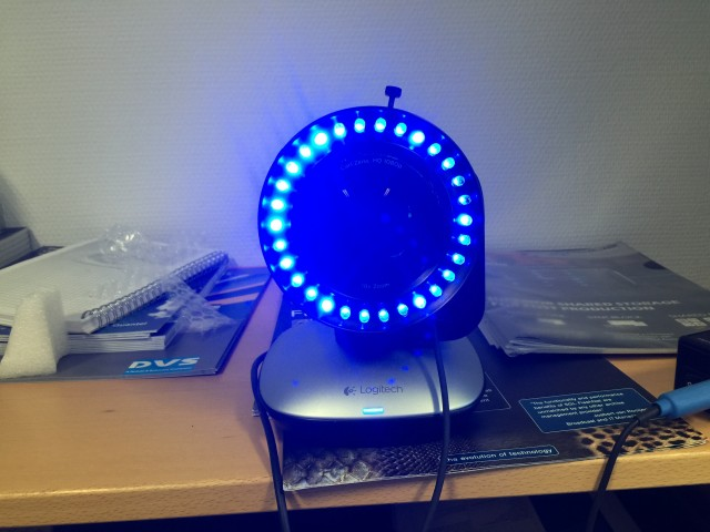 Logitech ConfernceCam CC 300e mit LED-Ring von Reclecmedia
