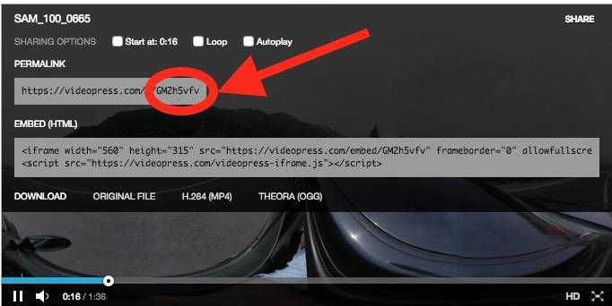 Share Video Kurz Code
