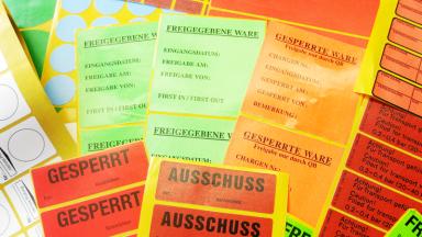 Mehrere Wartungsetiketten - Stark haftende Etiketten zur richtigen Stahlkennzeichnung
