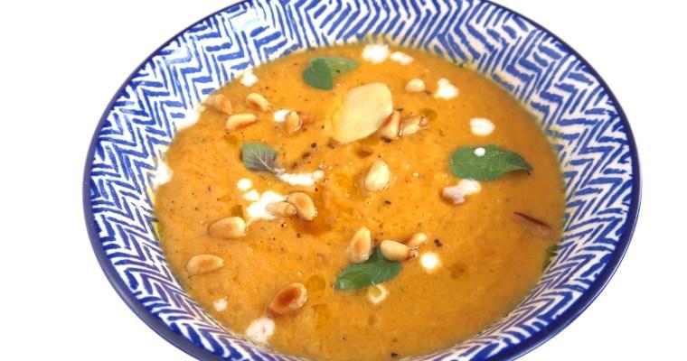 Gazpacho aus Melone, Ingwer und Tomaten