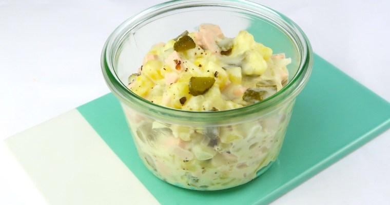 Kartoffelsalat ganz klassisch, aber vegan!