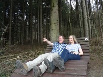 Und da geht's als Nächstes hin: Am Großen Freden in Bad Iburg mit der tollsten Wanderin der Welt.