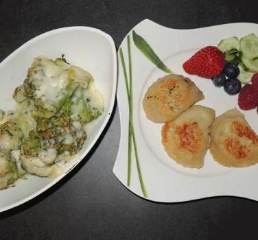 Brokkoli Auflauf mit gerösteten Schönkrapf