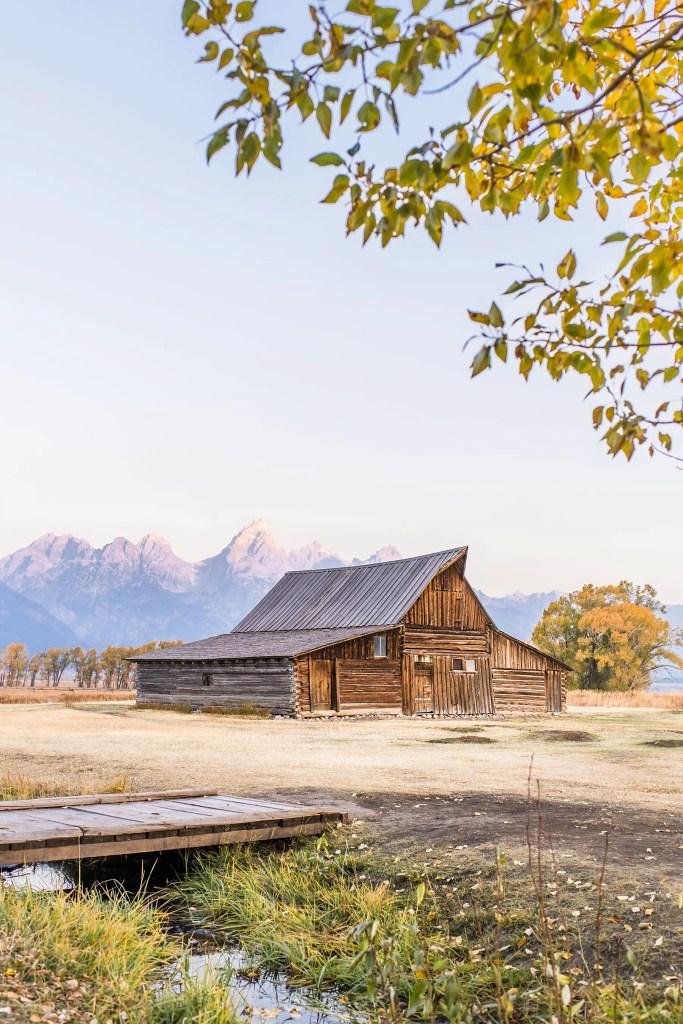 TA Moulton Barn Beautiful Places in Wyoming