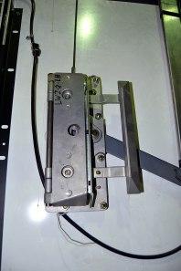 The clutch on the car door.