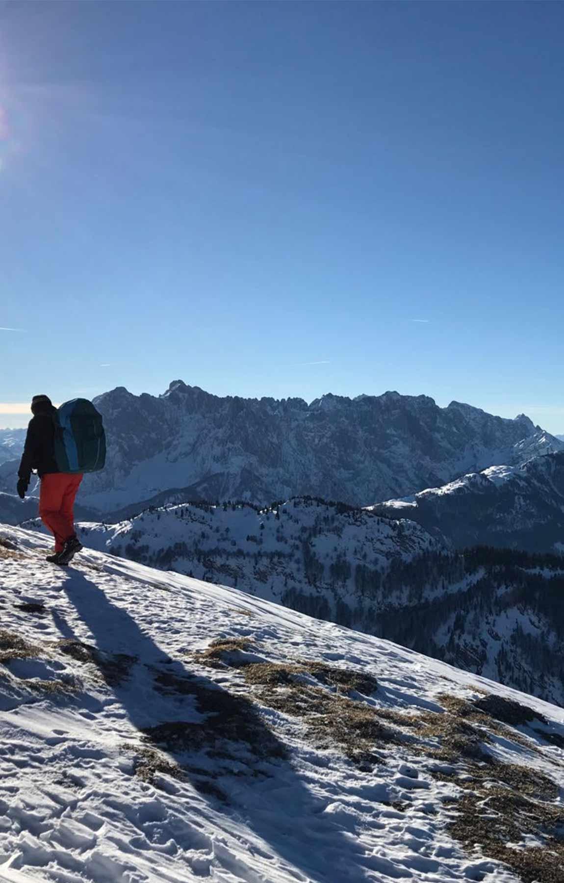 bergwanderführer tirol - wanderung im winter