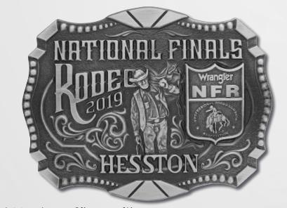 2019 Hesston NFR Belt Buckle