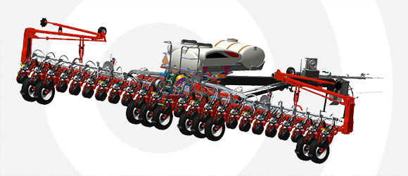 White Planter 9800VE Narrow Transport
