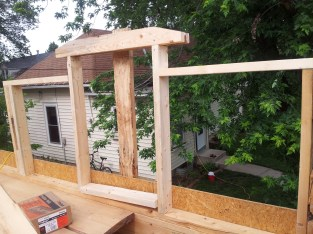 Dog house wall framing