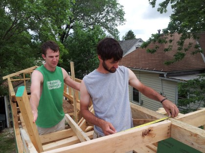 Creative minds creating the roofline
