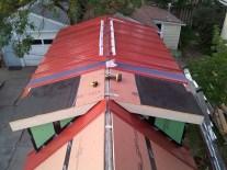 Panels on the dormer loft