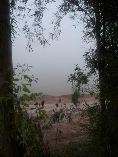 """White Christmas"" through the fog over the MaeKong River"