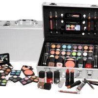 BriConti Schminkkoffer 'Everybody's Darling', Koffer im Alu-Design mit 51 teiligem Schmink- / Make-Up Set