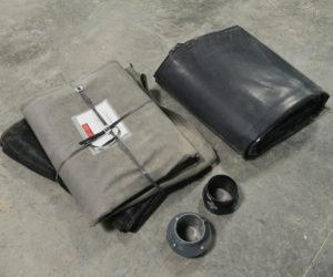 Pose de kit filtre à sable drainé avec bâche 400µ par schmit tp