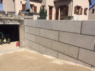 Mur soutènement béton block Schmit tp