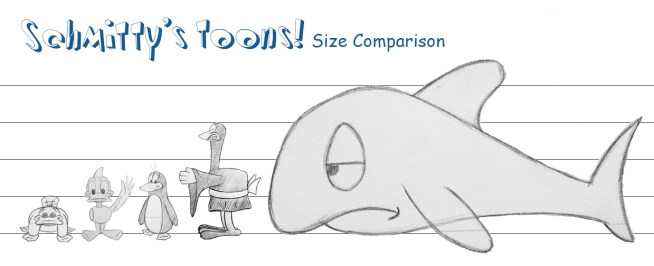 Schmitty's Toons! Size Comparison