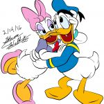 Digital Rendering of Donald and Daisy Duck by Steven Walker using Photoshop and Illustrator. Characters copyright Disney.