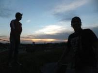 BF n cousin - Sunset at Jalan Ledang, JB, Malaysia