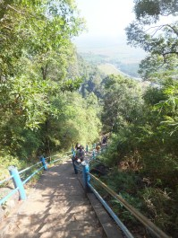 Krabi The Tiger Cave Temple - Along the way up to viewpoint - Our 2 buddies we befriended