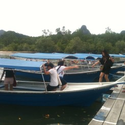 Getting into Boat at Tanjung Rhu Jetty, Langkawi
