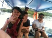 Syahirah, Kosom & Shahid on Boat Mangrove Tour, Langkawi