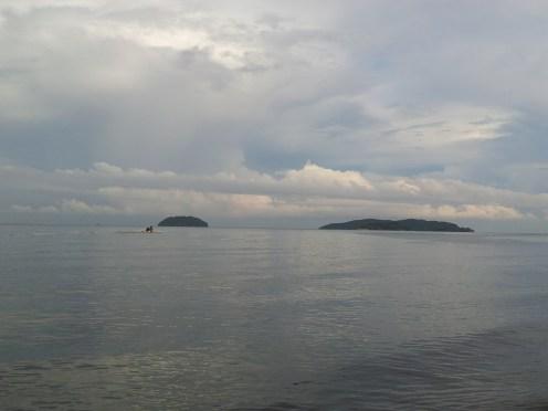Pulau Sulug & Pulau Manukan right side view from Tg. Aru Beach, Sabah