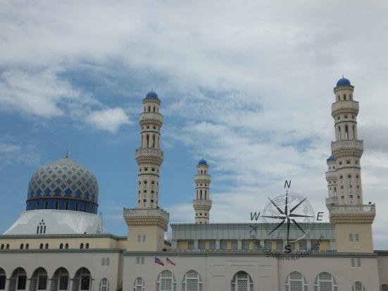 Close up of Kota Kinabalu City Mosque aka Sabah Floating Mosque