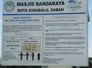 Kota Kinabalu City Mosque aka Sabah Floating Mosque Visiting Hour and Attire Code