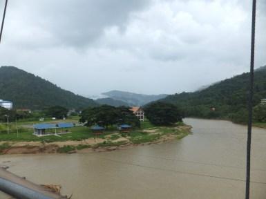 View from Tamparuli Suspension Bridge