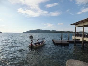 Lingering Boats at Sabah Park Jetty at Jalan Tun Fuad Stephen
