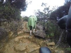 Climbing Mount Kinabalu on a rainy day