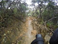 Climbing Mount Kinabalu wet path