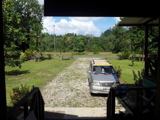 Sukau Evergreen Lodge Front Porch in Kinabatangan