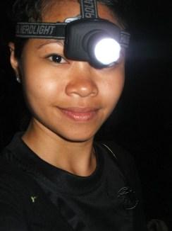 Me Enjoying the Night Walk in Sukau Forest Kinabatangan