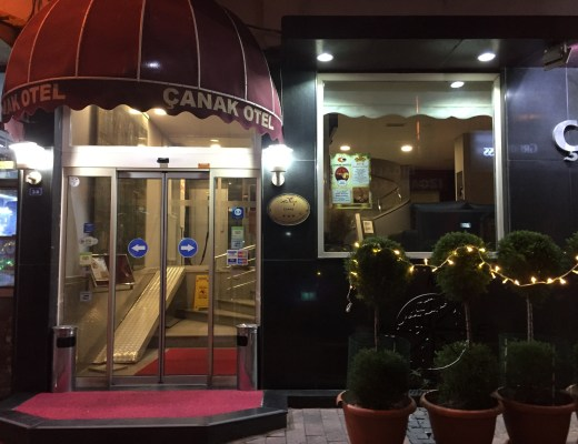Explore Canakkale, Turkey-Canak Hotel Entrance