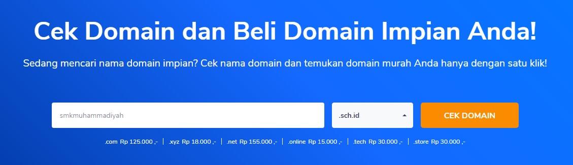 cara membeli domain sekolah
