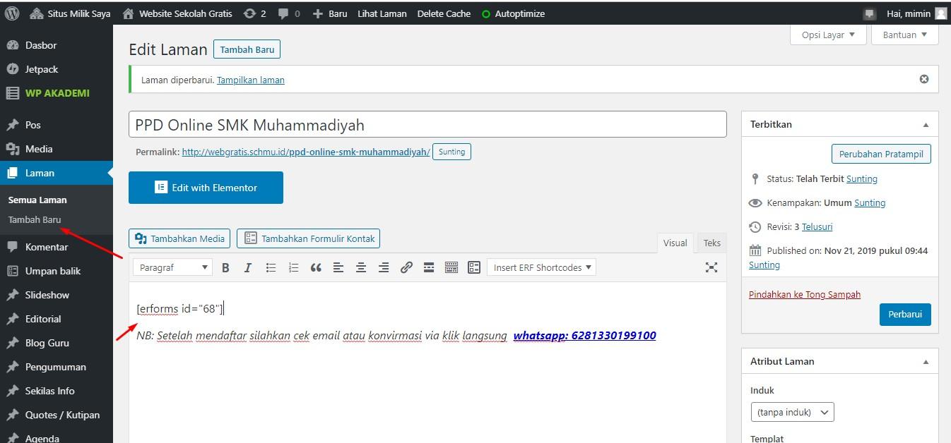 cara membuat form ppdb online di wordpess dengan cepat